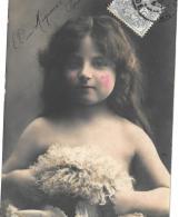 CPA.  ENFANT.  ARTISTIQUE.. MAQUILLAGE EXAGERE...DECOLTE..  TBE..1904....SCAN - Portraits