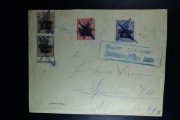 German Fieldpost Cover 1917 Stamps Cancelled Blue Cross Censor Armeekorps Posen, Militärischerseits Etc. + Geprüft - Occupation 1914-18