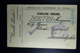 Russia 1917 Prisoner Of War Card  / Service Des Prisonniers De Geurre  Russian Censor
