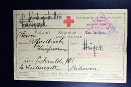 Russia Prisoner Of War Card  1917 Censor Irkoetsk  Slow Post : Verbindindung Ist Slechter  Nachrichten Selten