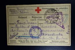 Russia Prisoner Of War Card  1917 Censor Military  Moskau + Vienna