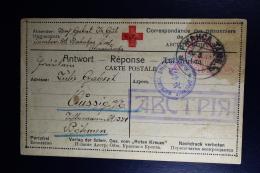 Russia Prisoner Of War Card  1917 Large Cancel ABCTPIA Austria  RR Censor Military  Moskou + Vienna