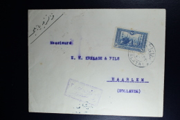 Turkey: Cover From Calata To Haarlem Holland, Censor Label In Red Mil. Censor - 1858-1921 Empire Ottoman