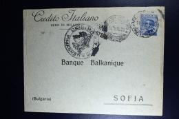 Italy:  Milano To Sofia 11-9-1915 Censor Bologna Stamp Is A Perfin CI - 1900-44 Vittorio Emanuele III