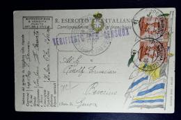 Italy: Venezia Trentino Sa 23 Aa Pair Used Soprastampa Capovolta Surcharge Inverted Fieldpostcard Poste Militare-8  1919 - Trentino
