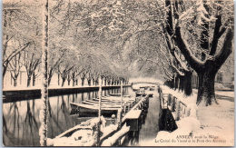 74 ANNECY - Sous La Neige, Le Canal Du Vassé. - Annecy