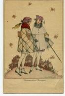 Mela Koehler Two Girls - Postcards
