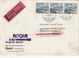 Lettre Basel Pour L'Espagne >> Retour Exprès 1958