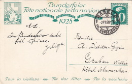 Carte Fete Nationale 1928 Basel