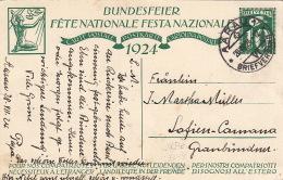 Carte Fete Nationale 1928 AARAU
