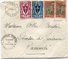 CAMEROUN FRANCE LIBRE LETTRE CENSUREE DEPART FOUMBOT 29 MAR 44 CAMEROUN POUR LE CAMEROUN - Cameroun (1915-1959)