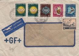 Lettre Luftpost Schaffhausen 1948 Olympia