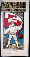 SUISSE SWISS  CALENDRIER HERALDIQUE VAUDOIS  POUR 1911 DOUZE  BLASONS DE CORNAZ  COLORES  6 SCANS - Books, Magazines, Comics