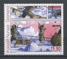 GROENLAND 2009  N° 515 ** Neuf MNH Superbe Cote 6,50 € BD Bandes Dessinées Dessinateur Godtfredsen Chiens Dogs Animaux - Unused Stamps