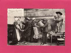 TYPES D'AUVERGNE, La Bourrée, La Bourreio D'Aubergno, Animée, 1955, (CAP) - Danses