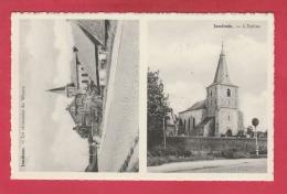 Jandrain-Jandrenouille - 2 Vues ... L'Eglise Et La Chaussée De Wavre (  Voir Verso ) - Orp-Jauche
