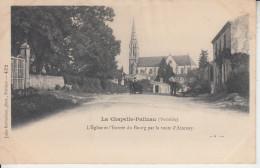 LA CHAPELLE PALLUAU   ( Vendée ) - Eglise Et L'entrée Du Bourg Par La Route D'Aizenay   PRIX FIXE - France