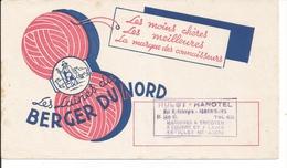 Buvard Les Laines Du Berger Du Nord. Cachet Hulot-Hanotel Isbergues. - Textile & Vestimentaire