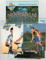 8 CARTOLINE SQUADRA CICLISTICA MAPEI 1998 - COLORE   (130716) - Cyclisme