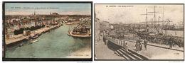 Lot 2 CPA NANTES : -Les Quais Et Le Port N°24, 11°mille  -Panorama Vers Le Nord-est Pris Du Transbordeur - Nantes