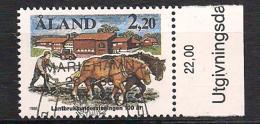 Aland 1988 Argiculture - Horses Plowing Mi  27, Cancelled(o) - Aland