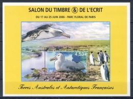 TAAF 2006 Foglietto N. 15 € 4,53 MNH Catalogo € 18 - Terre Australi E Antartiche Francesi (TAAF)