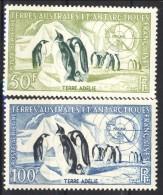 TAAF Posta Aerea 1956 - 59 Serie N. 3-4 F. 50 E F. 100 MVLH Catalogo € 108 - Posta Aerea