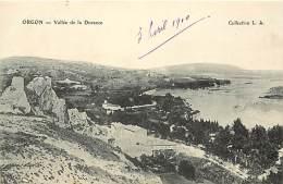 -ref-N373- Bouches Du Rhone - Orgon - Vallee De La Durance - Carte Bon Etat - - Frankrijk