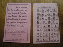 Feuille De Tickets De Ration De 1940,SUCRE - 1939-45
