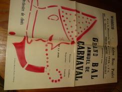 Affiche WODECQ 1949 Bal Annuel Carnaval Imprimee Flobecq - Manifesti