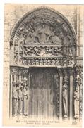 POSTAL  CHARTRES  -FRANCIA  - CATHÉDRALE DE CHARTRES -PORTAIL ROYAL (DETAIL) - Chartres