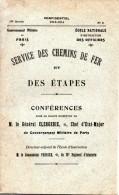 Armée : Ecole Nle D´instruction Des Officiers. Service Des Chemins De Fer Et Des Etapes. Livret Confidentiel, 1913/14 - Libri, Riviste & Cataloghi