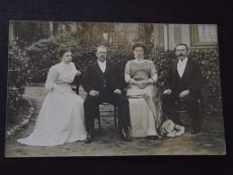 JOUR De NOCE - COUPLES De La BOURGEOISIE - Carte-photo - Vers 1930 - Au Dos, Correspondance Sur Le Mariage - Noces