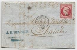 - Lettre - SEINE - PARIS - PC.2372 S/TPND Napoléon III N°17B  + Càd Type 15 - 1861 - 1853-1860 Napoléon III