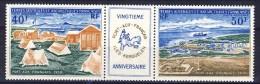 TAAF Posta Aerea 1971 Trittico Serie N. 25-26 MNH Catalogo € 560 - Posta Aerea
