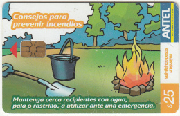 URUGUAY - Emergencia Bomberos 104(427a), 12/05, Used - Firemen