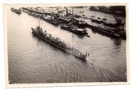 CPA Carte Photo Navire De Guerre Torpilleur D'escadre Port De Rouen 1914 Photo Comptoir J. Dumont 41 Rue Jeanne D'Arc - Rouen