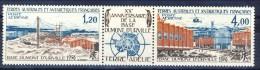 TAAF Posta Aerea 1976 Trittico 43A MNH Catalogo € 31 - Posta Aerea