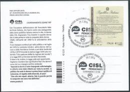 """Italia 2016; """"Anniversario Insediamento Di Una Donna A Ministro"""". Organizzato Dalla CISL In Onore Di TINA ANSELMI. - 2011-...: Storia Postale"""