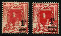 ALGERIE - YT 158 Et 158A * - LES 2 TYPES DE SURCHARGE - 2 TIMBRES NEUFS * - Algérie (1924-1962)
