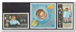 Jordanië 1964, Postfris MNH, Flowers, Child - Jordanië