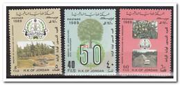 Jordanië 1989, Postfris MNH, Trees, Fruit - Jordanië