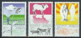 Mho0522 LANDBOUW DAM FLORA KOE VARKEN GEIT VIS FOOD FISH AGRICULTURE GOAT NEDERLANDSE ANTILLEN 1976 PF/MNH VANAF1EURO - Antillen