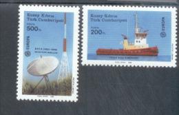 CEPT Transport Und Kommunikationsmittel Zypern/Türk 223 - 224 MNH ** Postfrisch - 1988