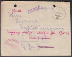 Germany Feldpost 37723  17. 9. 1943 / WW2 / Return - Seconda Guerra Mondiale