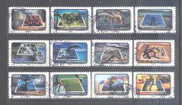 France Autoadhésifs Oblitérés N°403 à 414 (Série Complète : Fête Du Timbre L'eau) (cachet Rond) - Used Stamps