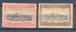 URUGUAY YVERT NRS.  177-78 AÑO 1909 ABERTURA DEL PUERTO DE MONTEVIDEO COMPLETE SET SERIE COMPLETA - Uruguay