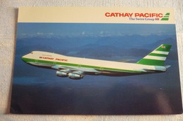 AIRLINE ISSUE / CARTE COMPAGNIE    CATHAY PACIFIC  B 747 200B - 1946-....: Ere Moderne