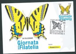 Italia, Italy, Italie, Italien 2016; Farfalla,butterfly,papillon Macaon.Maximum Card E Anche F.D.C. Con Annullo Speciale - Papillons
