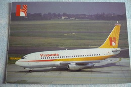 AIRLINE ISSUE / CARTE COMPAGNIE    HISPANIA  B 737 200 - 1946-....: Moderne